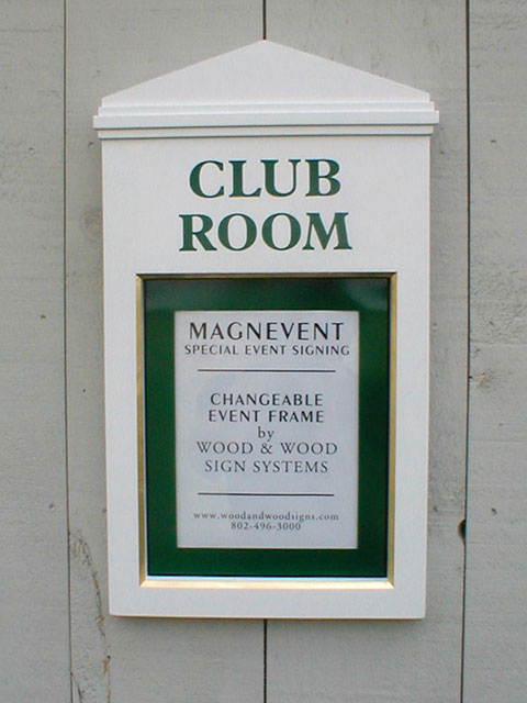Basin Harbor Club Room Wall Mounted Sign