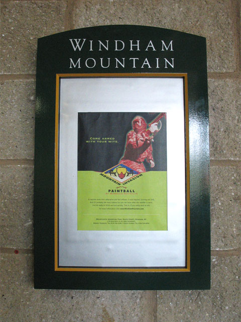 Windham Mountain Wall Mounted Sign